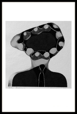 Vrouw met slangenhoedje